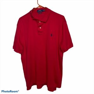 Ralph Lauren Pima Soft Touch Red Men's XL Polo